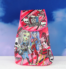 12Pcs Cartoon Monster High Kids Drawstring Printed Backpack Beach Shopping School Traveling Bags Birthday Gifts 33*36CM(China (Mainland))