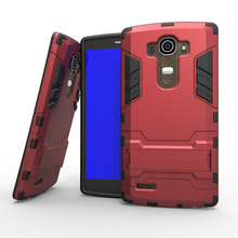 For LG G4 Cool 2 In 1 PC+TPU Hard Stand Holder Case For LG G4 H818 Covers Cases Mobile Phone Accessories