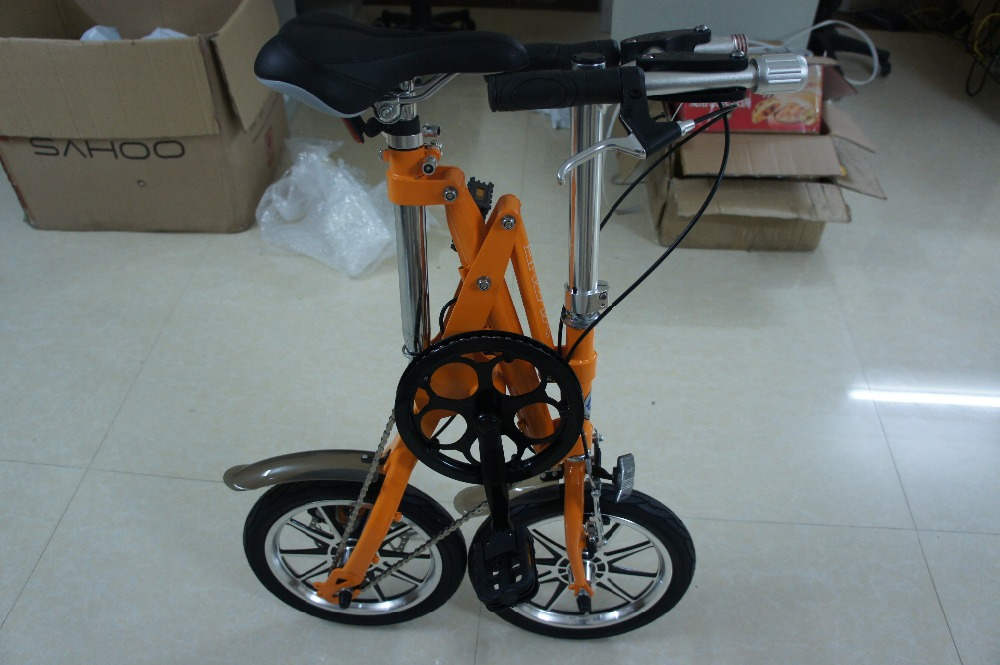 2015 New Folding Bike Road Mountain Bike 14 Inch Portable Bicycle Cycling 4 Colour Aluminum Alloy