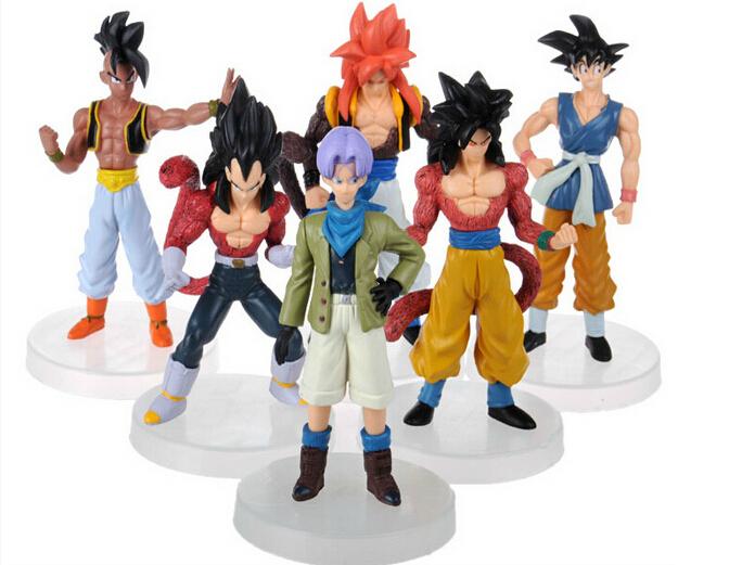 New hot sale Japanese PVC anime figure gift Dragon Ball goku Trunks Vegeta Gohan gift for children 12CM free shipping(China (Mainland))