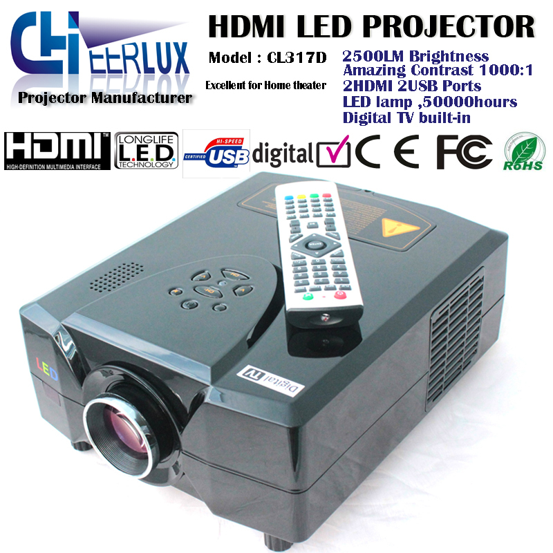 Tv Tuner Projector High Definition Home Theater Wxga Full: Digital TV Projector With TV Tuner Built In & Speakers