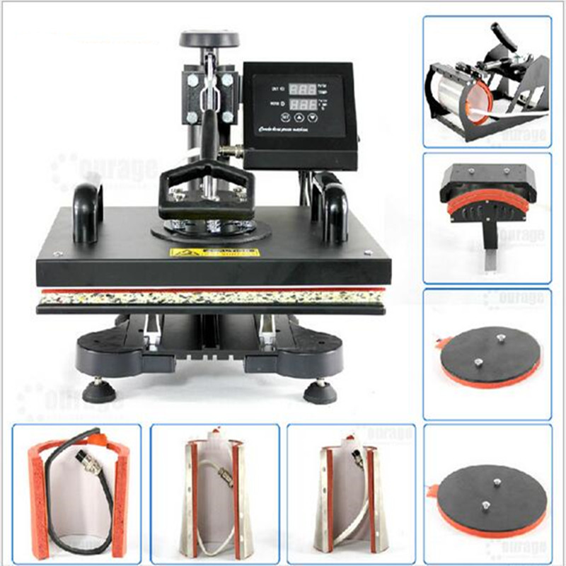 Personalized Custom 8 In 1 Combo Heat Transfer Machine Sublimation Heat Press Machine For Plate/Mug/Cap/Tshirt /Phone case(China (Mainland))