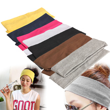 Elastic Headband 2PCS Sports Yoga Accessory Dance Biker Wide Headband Stretch Ribbon Cotton Hairband HB88(China (Mainland))