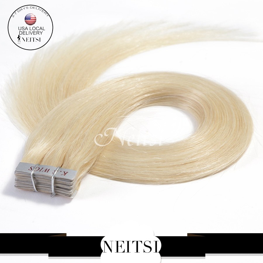 """Neitsi 20"""" 40pcs 100g 613# Blonde Color Brazilian Remy Tape Hair Skin Weft Hair Straight Extensions 5A High Quality Queen Hair(China (Mainland))"""