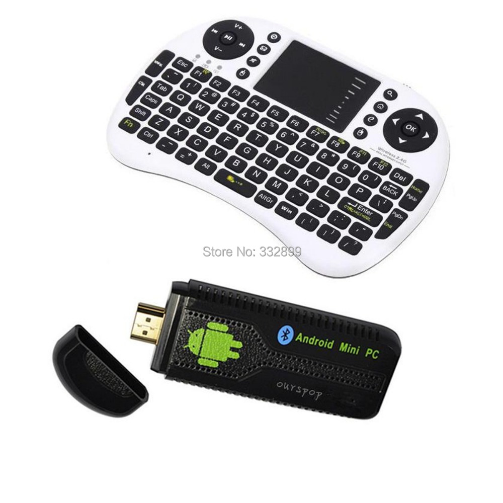 Ourspop U73+i8 Air Mouse Dual-Core Android 4.2.2 Google TV Dongle w/ 1GB RAM / 8GB ROM - EU Plug(China (Mainland))
