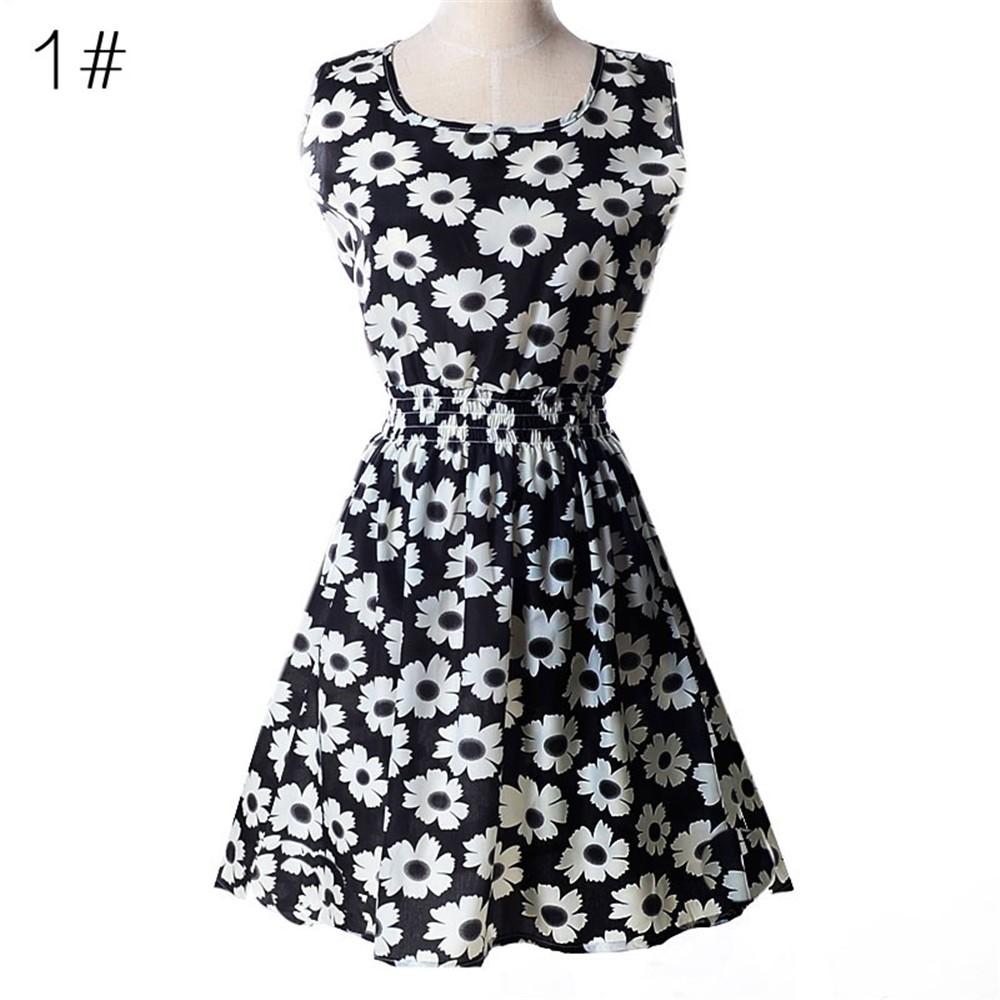 Fashion Tunic Women Dress 2016 Plus Size XXL O-neck WOMEN DRESS Summer Style Floral Print Casual Dresses Women Vestidos Woman (55)