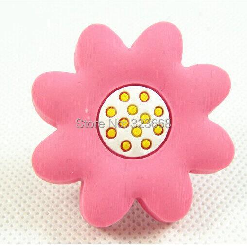 Childern Room Cartoon Furniture handle zinc alloy & soft plastic safe no harmful cute Children favorite knob pink sunflower(China (Mainland))