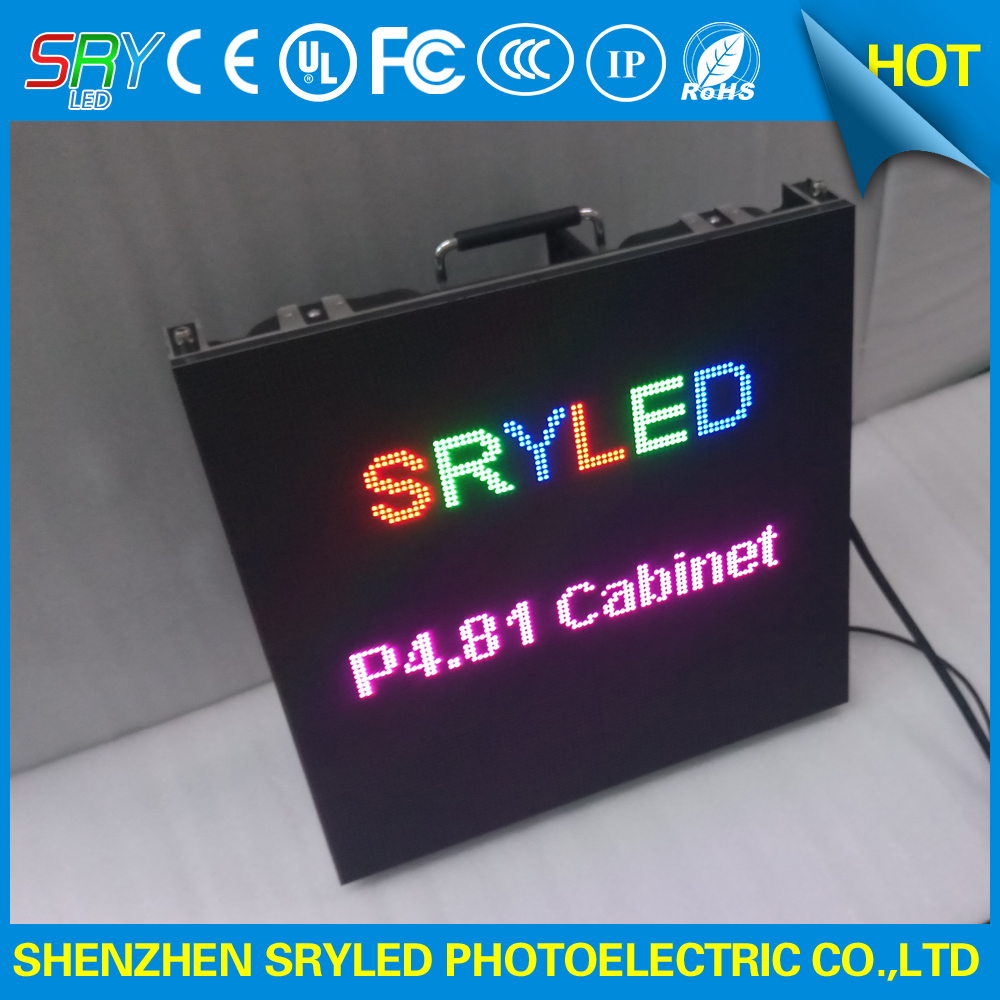 High definition indoor p4.81 Aluminum Die-casting led display cabinet 500 x 500mm(China (Mainland))