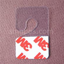 Self Adhesive PET Hang Tabs Hook Style, merchandise package box bag PVC hangers for peghooks, plastic display J-hook hanging tab(China (Mainland))