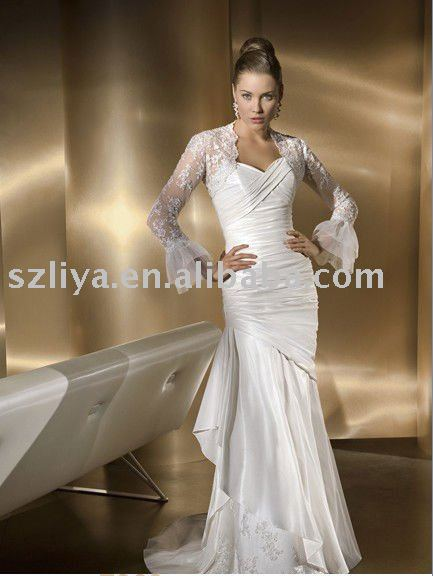 new fashion lace white indian wedding dresses-in Wedding Dresses from ...