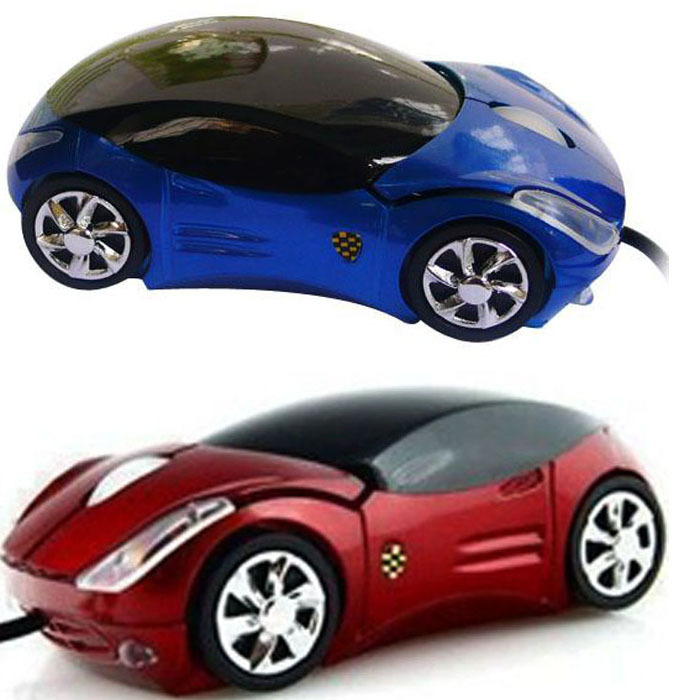 2015 Brand New Hot Sale Fashion Red/Blue Mini 3D Car Shape USB Optical Wired Mouse Mice For PC/Laptop/Computer Wholesale(China (Mainland))