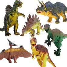 New 2015 Dinosaur Set Tyrannosaurus Stegosaurus Triceratops Utahraptor Spinosaurus Pterosaur Kids Toy Free Shipping(China (Mainland))