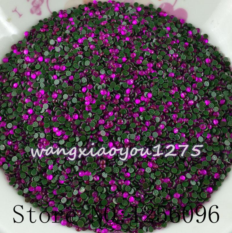 Rose red SS6 1.8mm-2mm B Grade Hotfix Crystals Rhinestone Beads 1440pcs/bag Garment Accessories hot fix rhinestone motif designs(China (Mainland))