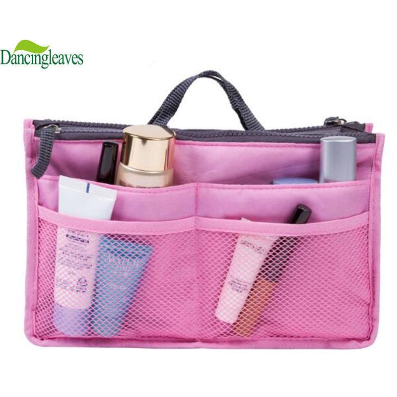 HOT Sale ! 12 Colors Make up organizer bag Women Men Casual travel bag multi functional Cosmetic Bag storage bag in bag Handbag(China (Mainland))