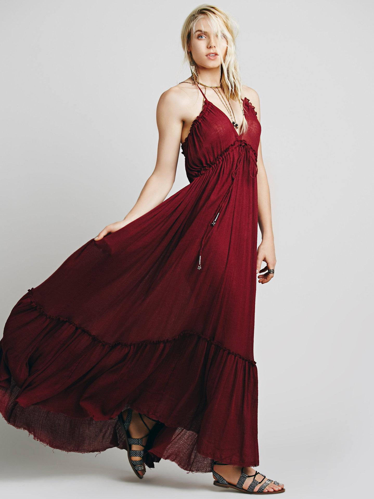 2016 Free Shipping Hot Greek Hobe Style Backless Dress