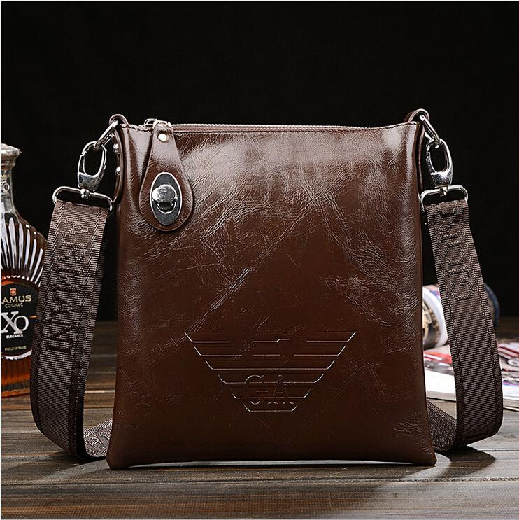 2015 new man bag casual leather bag diagonal Fashionable leather bags men messenger bags free shipping(China (Mainland))