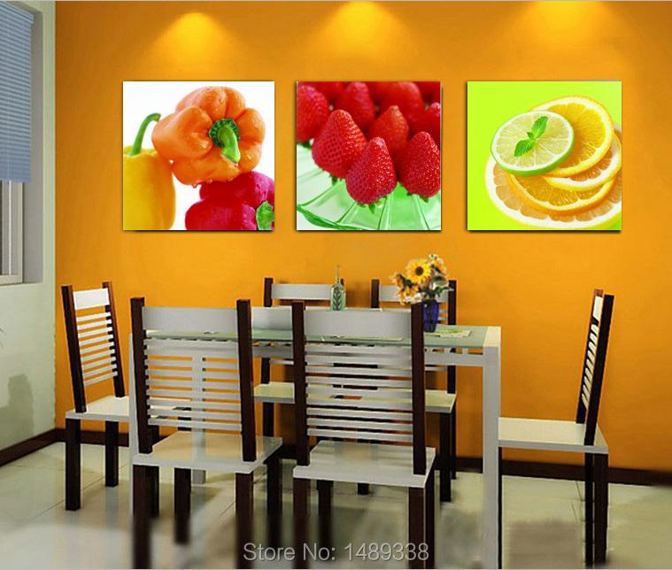 Modern Printed On Canvas 3 Piece Wall Decor Fruit Canvas Art Wall Art