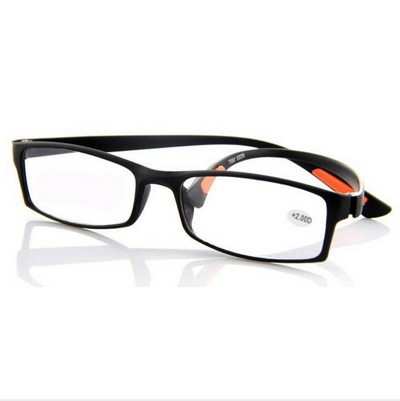 2015 Super-soft Ultra-light Plastic Women Reading Glasses Men Presbyopic Glasses Black(China (Mainland))