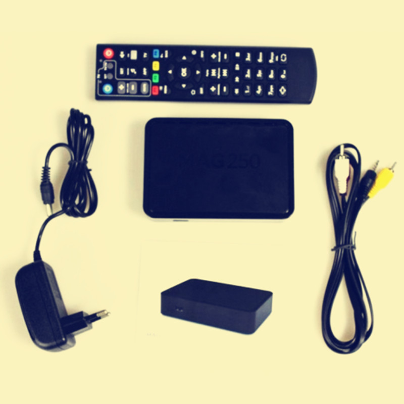 MAG250 set top box, mag250 iptv box, best tv box, support wifi usb connector / cable, best mag250 box(China (Mainland))