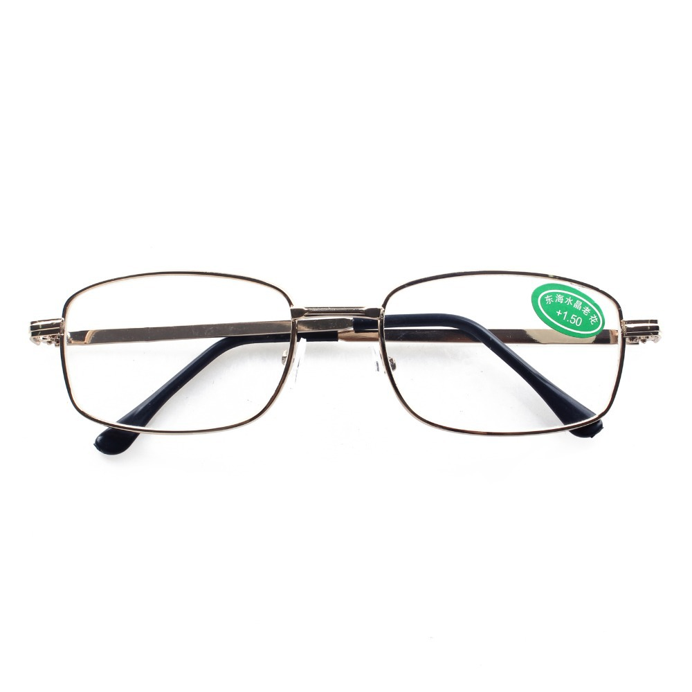 Gold Frame Reading Glasses : 1 PR Gold Frame Classic Mens Womens Reading Glasses ...