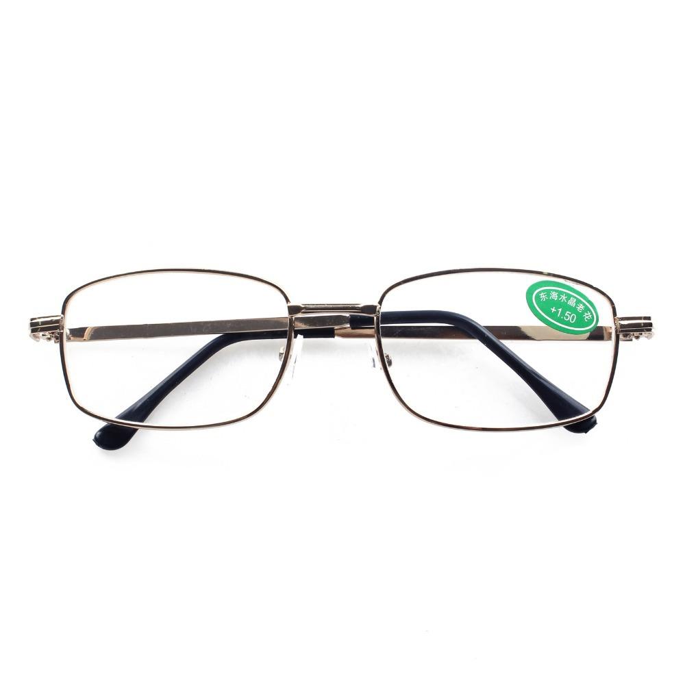 Ladies Gold Frame Glasses : 1 PR Gold Frame Classic Mens Womens Reading Glasses ...