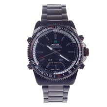 Weide WH-903 hombres cuarzo y tiempo Dual Display LED deportivo reloj de pulsera – negro ( 1 x CR2016 )