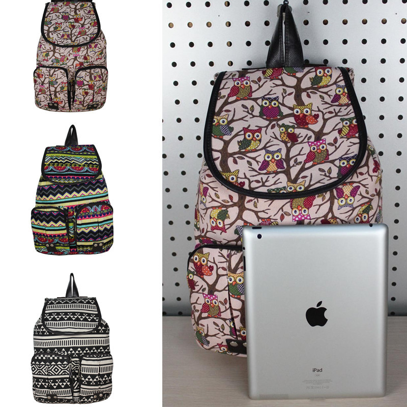 2014 Hot National Pattern printing Unisex Canvas back packs School Book Bag Backpacks for teenagers(China (Mainland))