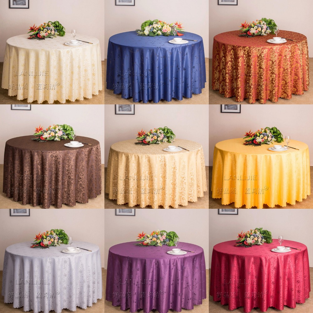 10pcs/lot 70'' Luxury Round Tablecloth For Wedding Hotel Banquet Table Cloth wholesale wedding supplies()