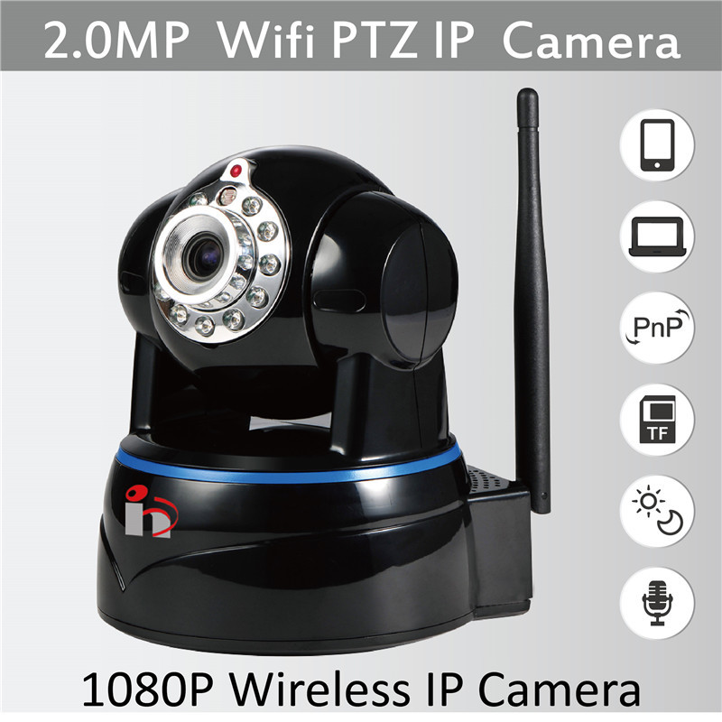 HY Free Ship 2-way Audio HD 1080P IP Camera P2P Security Surveillance Camera H.264 ONVIF Camera IR Cut Wifi Wireless PTZ Camera(China (Mainland))