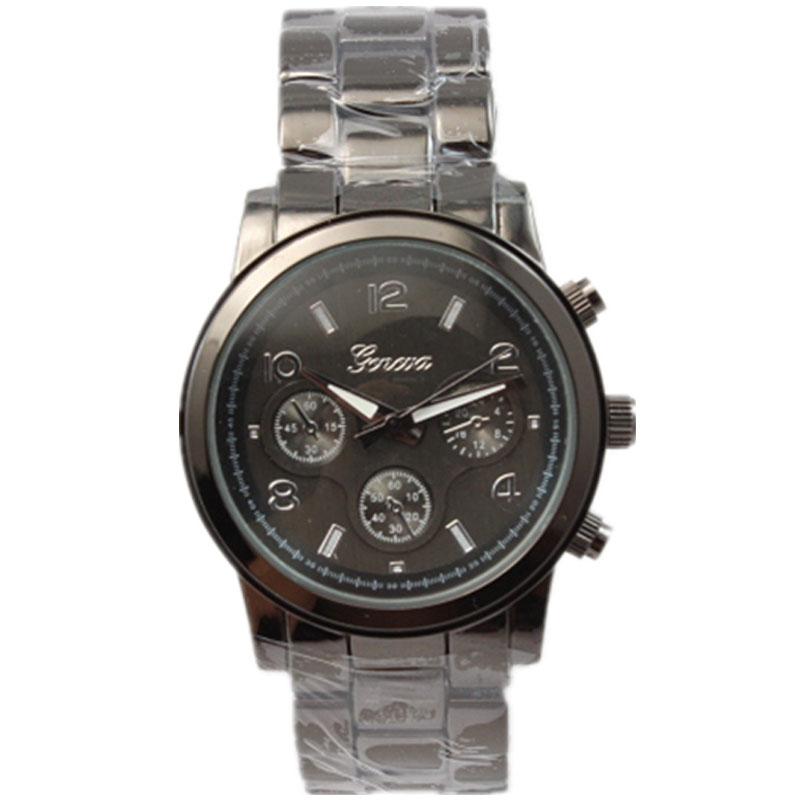 geneva famond brand high quality alloy metal band women casual dress analog clock mens fashion quartz watch<br>