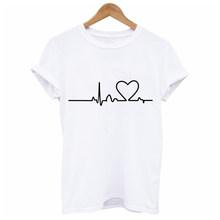 Soatrld 2018 New Harajuku Love Printed Women T-shirts Casual Tee Tops Summer Short Sleeve Female T shirt Women Clothing(China)