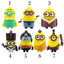 2016 New Arrival Cartoon Pen Drive Minions Flash Memory Stick Pendrive 4Gb 8Gb 16Gb 32Gb 64Gb Usb Creativo Flash Drive U Disk(China (Mainland))