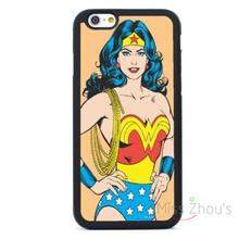 For iphone 4/4s 5/5s 5c SE 6/6s plus ipod touch 4/5/6 back skins mobile cellphone cases cover Wonder Woman