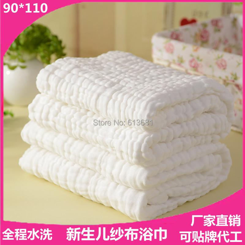 Гаджет  Baby bath towel 100% cotton ultra soft baby gauze towel newborn towel big thick 6 layer 90*110 None Детские товары
