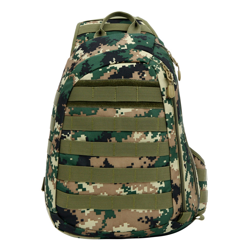 2015 New Unisex No Brand High Quality Big Size Camouflage 3 Days Military Attacking Tactical Single Shoulder Sling Chest Bag