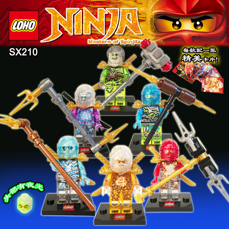 NINJAGOD Minifigures Cole Kai Jay Lloyd Nya Craffin Turner Building Bricks Blocks Figures Toys Legofigure Comics  -  Hot Toy Story store