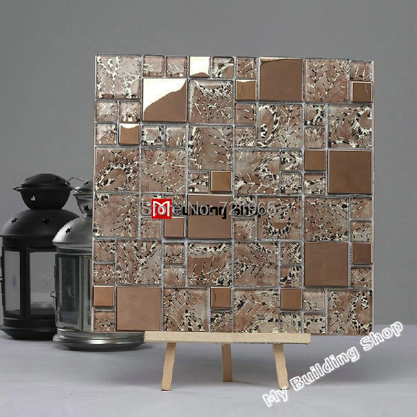 Glass mosaic tiles SSMT238 stainless steel tile backsplash glass metallic wall &amp; floor tile FREE SHIPPING mosaics tile<br><br>Aliexpress