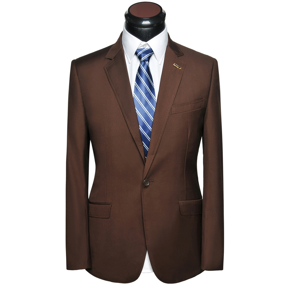 (Jacket+Pants) 2017 New One Button Men Suits Men Brown Fashion Formal Wedding Party Suits Terno Tuxedos vT0256(China (Mainland))