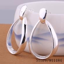 E385 Wholesale Free shipping silver plated earrings ,Free shipping silver plated fashion jewelry ,  /asdajjka civalaca(China (Mainland))