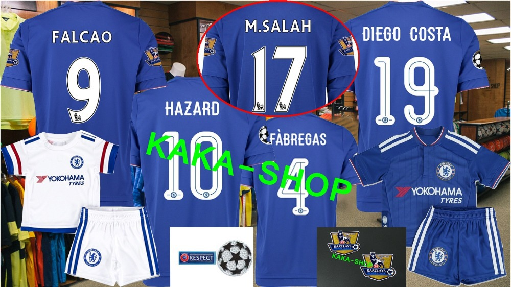 TOP thailand Chelsea jersey falcao HAZARD FABREGAS DIEGO-COSTA HOME AWAY soccer jersey kids child shirts TERRY champions league(China (Mainland))