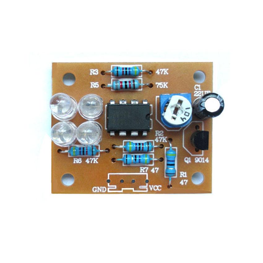 LM358 breathing light parts electronic DIY fun making kit blue flashing lamp electronic production suite(China (Mainland))
