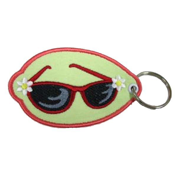 keychain, 1.5 inch wide, twill + 3cm metal ring,emb. various colors,100pcs/ bag, accept customized, MOQ 100, - Kang Jin Apparel Ltd. store