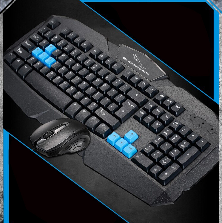Keyboard Mouse Combos Professional Wired USB LED Backlit keyboard ultra-thin wired gaming gamer keyboard and mouse set kit(China (Mainland))