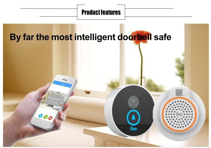 wifi door bell for smart phone wifi door bell intercum Video Intercom Phone Control IP Door Wireless with 8G TF card inside(China (Mainland))
