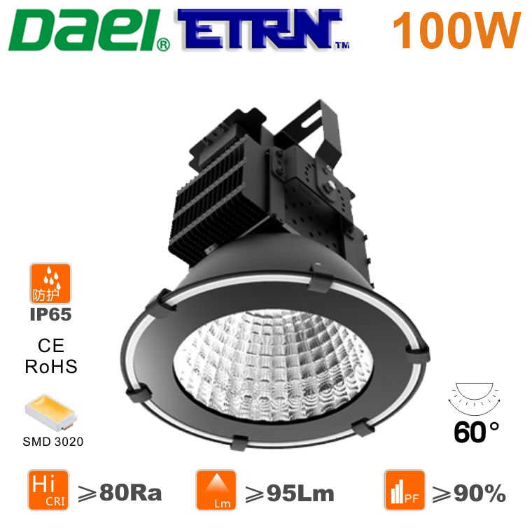 Daei ETRN Brand 2014 new Waterproof 100W LED High Bay Lights LED Mining lamps LED Industrial Lights 3020 LED(China (Mainland))