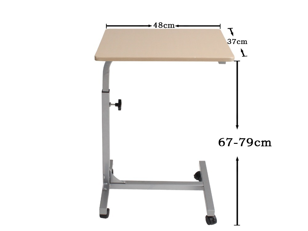 White Portable Laptop Folding Table Modern Adjustable Computer Desk Bedroom,Ship From USA(China (Mainland))