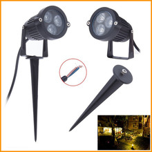 Excellent Feedback 3W Landscape Light Outdoor 12V Garden Light IP65 Aluminum LED Lawn Spike lights(China (Mainland))
