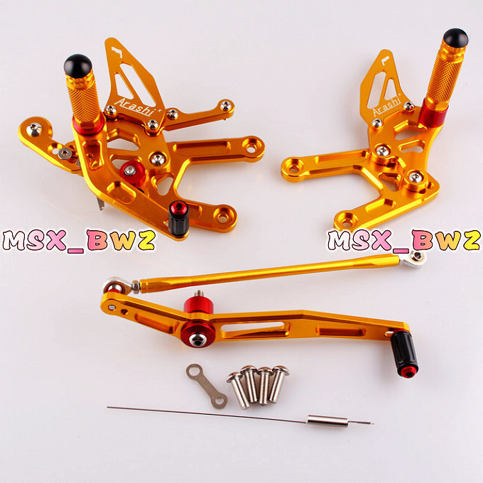 New Arrival Gold Motor Parts Rearset Rear Set Footpegs Foot Pegs Adjustable Set For Yamaha YZF R6 2006 2007 2008 2009 2010 2011(China (Mainland))