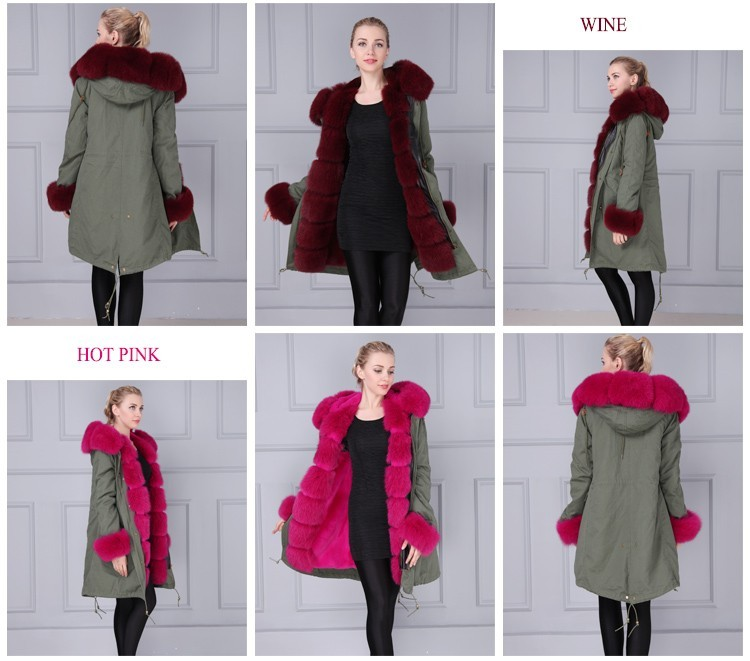 Winter Women Luxury Most Hot Sale In UK Fashionable Brand Faux Fur lined Long Coat Parka Padded Jacket Women