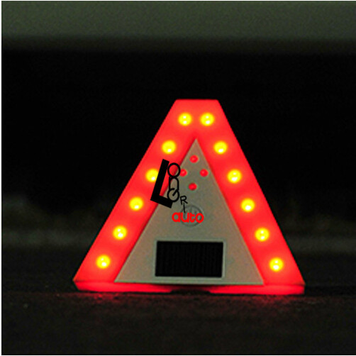Solar warning triangle camping rear-end explosion car park 16x16x16cm, solar battery ,LED flash light ,red&white freeshipping(China (Mainland))